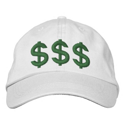 Money on My Mind Dollar Signs Embroidered Hat