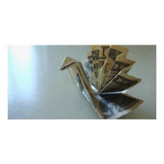 Money Origami Turkey Side Card