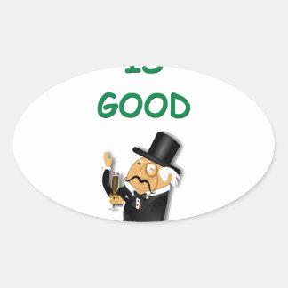 money oval stickers
