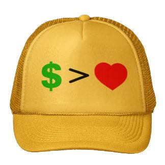 Money over Love Hat