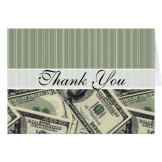 Money Pattern; Green $100 bill Card