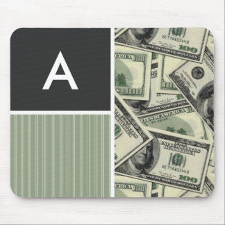 Money Pattern Green Mouse Pads