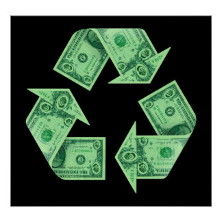 Money Recycling Poster