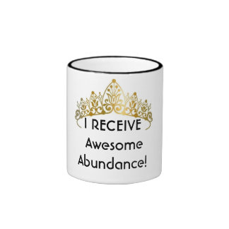 Money Reiki Energy Infused AWESOME ABUNDANCE Mug! Ringer Mug