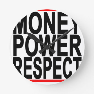 Money Respect T-Shirts.png Round Clock