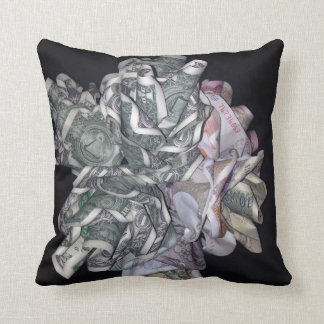 """Money Roses"" Throw Pillow 16"" x 16"