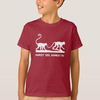 Money See Monkey Do 2 Monkeys Silhouette T-Shirt