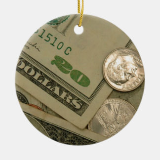 Money Shot - All About The Money Ceramic Ornament