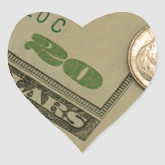 Money Shot - All About The Money Heart Sticker