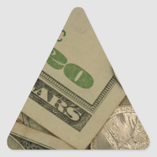 Money Shot - All About The Money Triangle Sticker