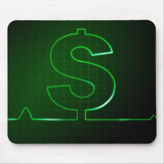 money sign mouse pad