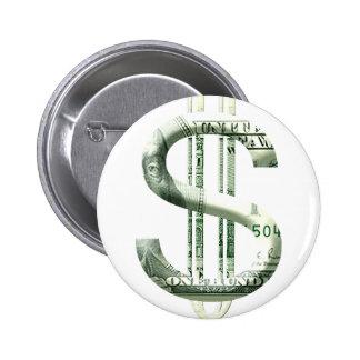 Money Sign Pinback Button