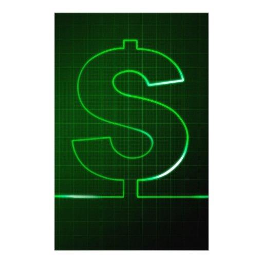 money sign stationery