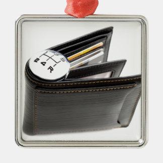 Money spending speed metal ornament