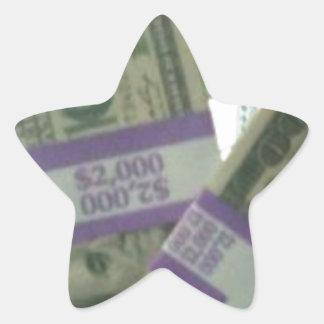 Money Star Sticker