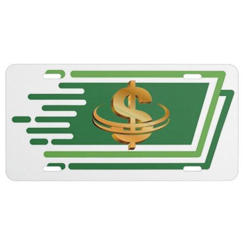 Money Symbol License Plate