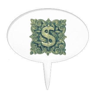 Money Symbol Ornament Cake Topper