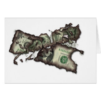 Money To Burn Stationery Note Card