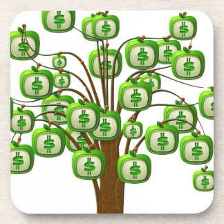money tree beverage coaster
