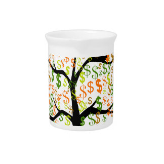 Money Tree Beverage Pitcher