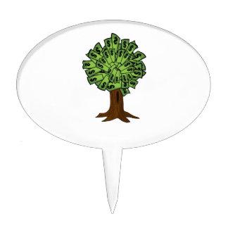 Money Tree Cake Topper