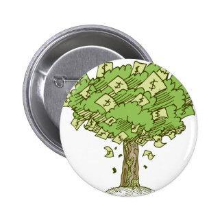 Money Tree Cartoon Drawing Button