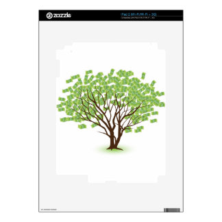 Money Tree Financial Growth Graphic Decal For iPad 2