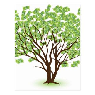 Money Tree Financial Growth Graphic Postcard