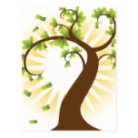 Money Tree Financial Growth Icon Postcard