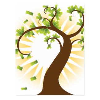 Money Tree Financial Growth Icon Postcard