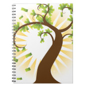 Money Tree Financial Growth Icon Spiral Note Books