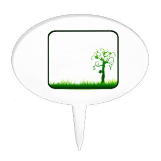 money tree grass rectangle frame graphic.png cake topper