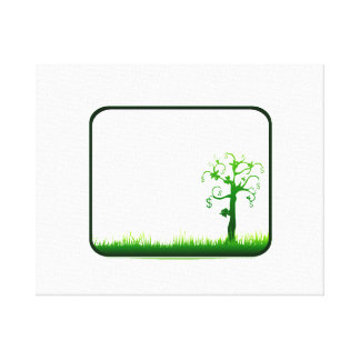 money tree grass rectangle frame graphic.png canvas print