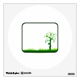 money tree grass rectangle frame graphic.png wall sticker