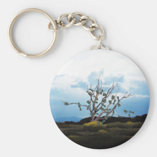 Money Tree on a Windy Day Basic Round Button Keychain