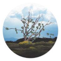 Money Tree on a Windy Day Sticker