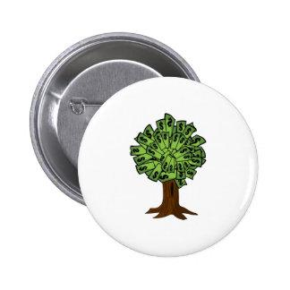 Money Tree Pinback Button