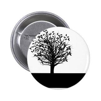 Money Tree Silhouette Button