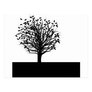 Money Tree Silhouette Postcard