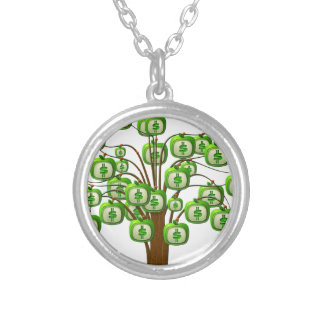 money tree silver plated necklace