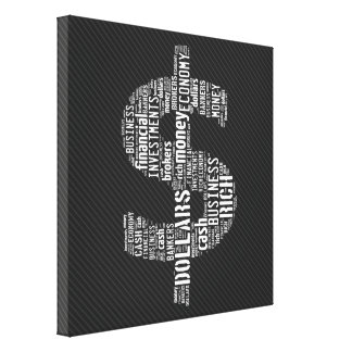 Money Typed Text Symbol | Business Gifts Canvas Print