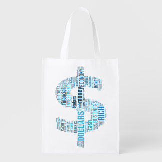 Money Typed Text Symbol | Business Gifts Grocery Bag