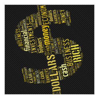 Money Typed Text Symbol   Business Gifts Poster