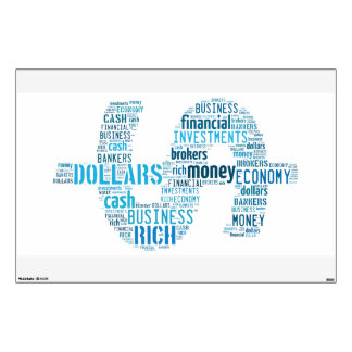 Money Typed Text Symbol   Business Gifts Wall Decal