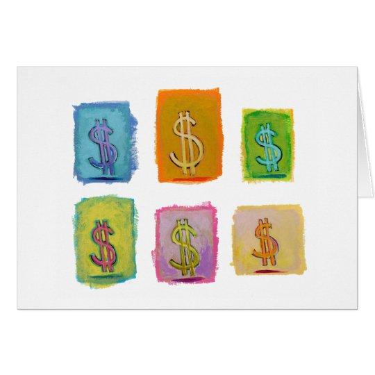 Money wealth abundance economics fun happy art card