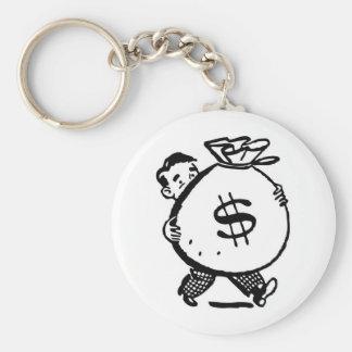 moneyboy basic round button keychain