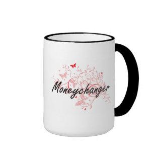 Moneychanger Artistic Job Design with Butterflies Ringer Mug