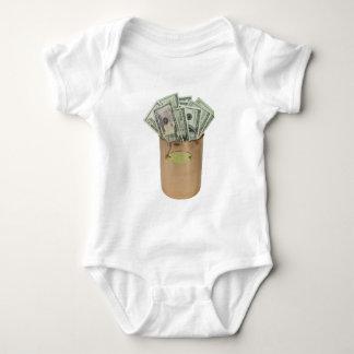 MoneyCopperPot100711 Baby Bodysuit