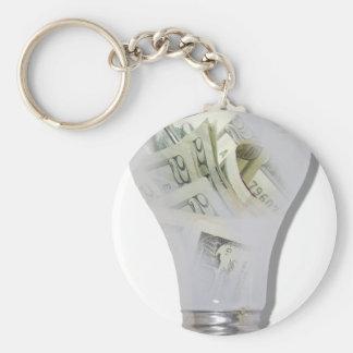 MoneyIdeas082010 Basic Round Button Keychain
