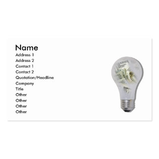 MoneyIdeas082010, Name, Address 1, Address 2, C... Double-Sided Standard Business Cards (Pack Of 100)